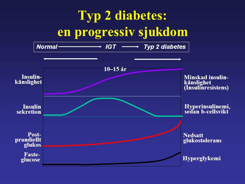 Typ 2 diabetes: en progressiv sjukdom