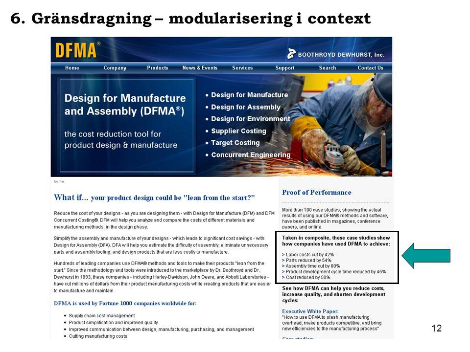 6. Gränsdragning – modularisering i context