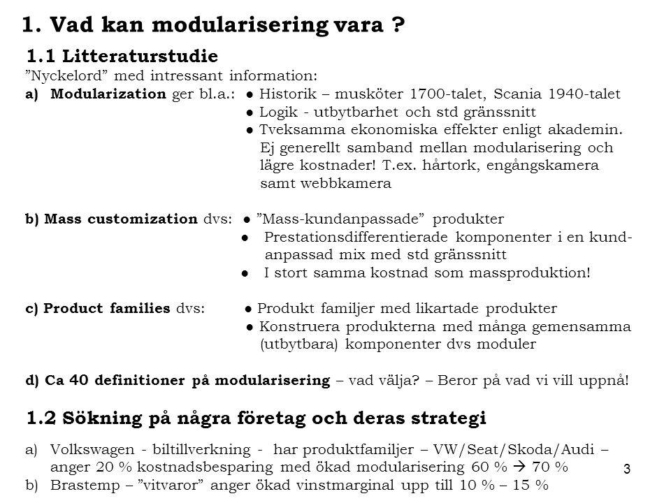 1. Vad kan modularisering vara