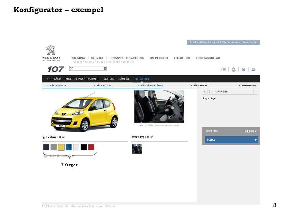 Konfigurator – exempel