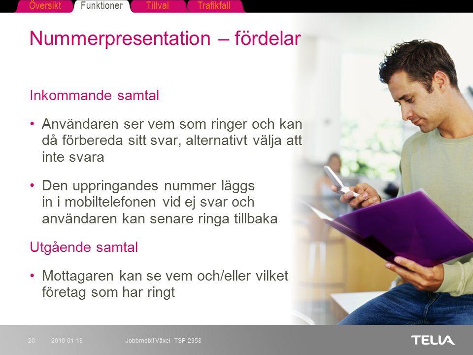 Nummerpresentation – fördelar