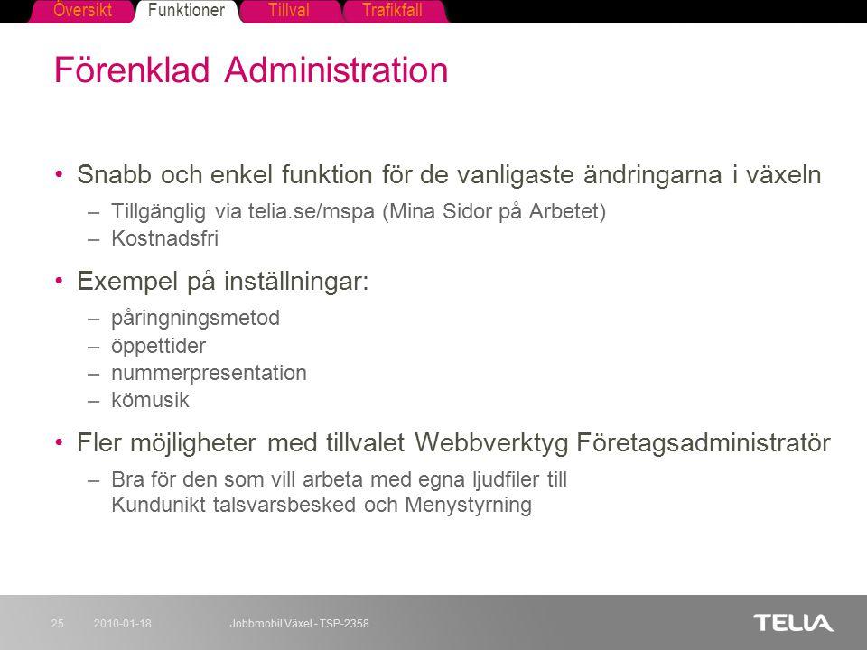 Förenklad Administration