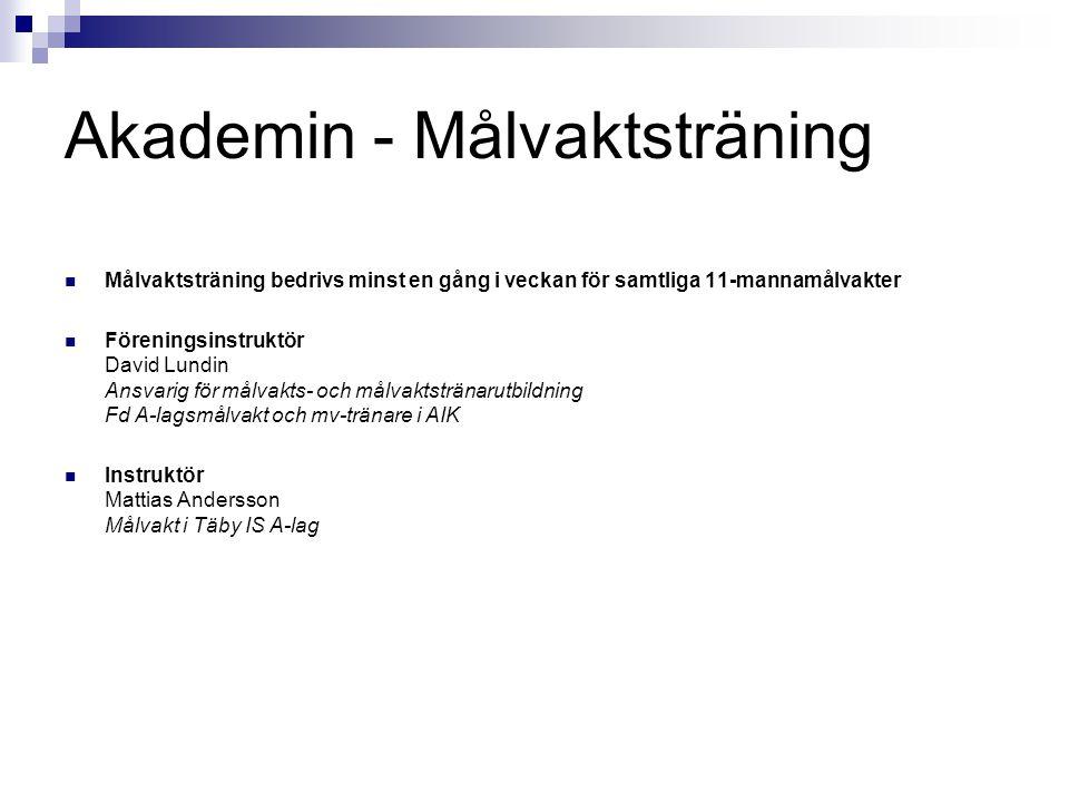 Akademin - Målvaktsträning