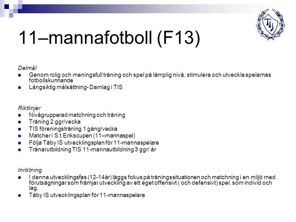 11–mannafotboll (F13) Delmål