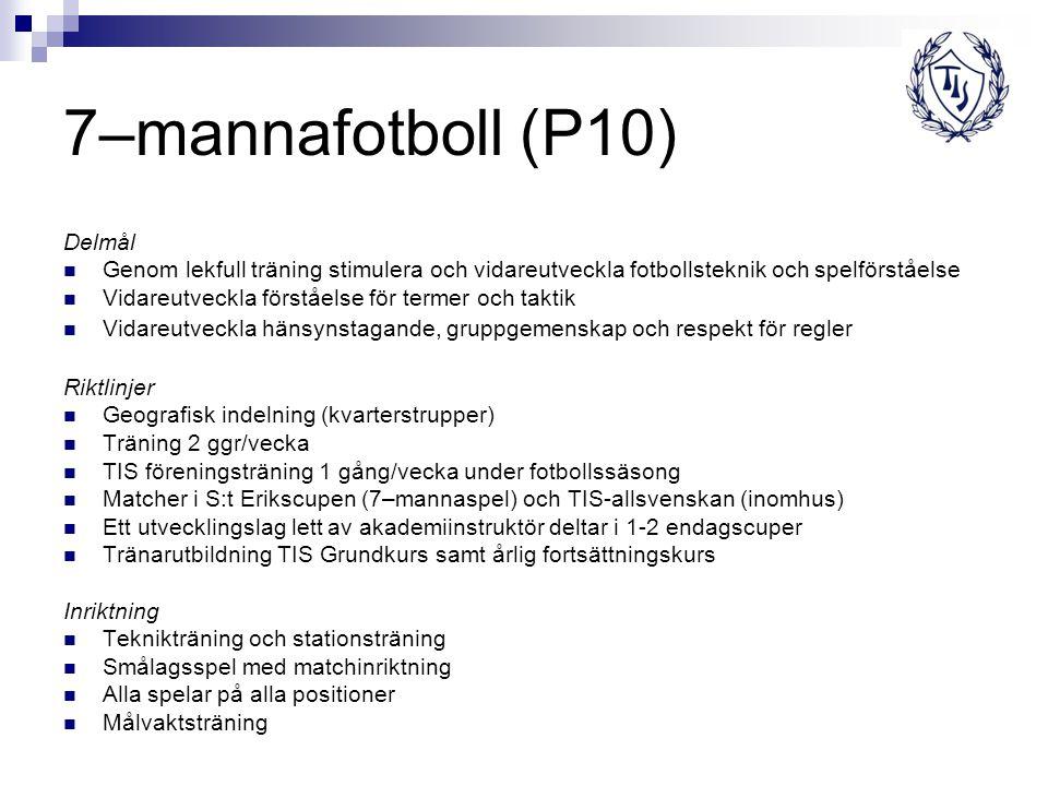 7–mannafotboll (P10) Delmål