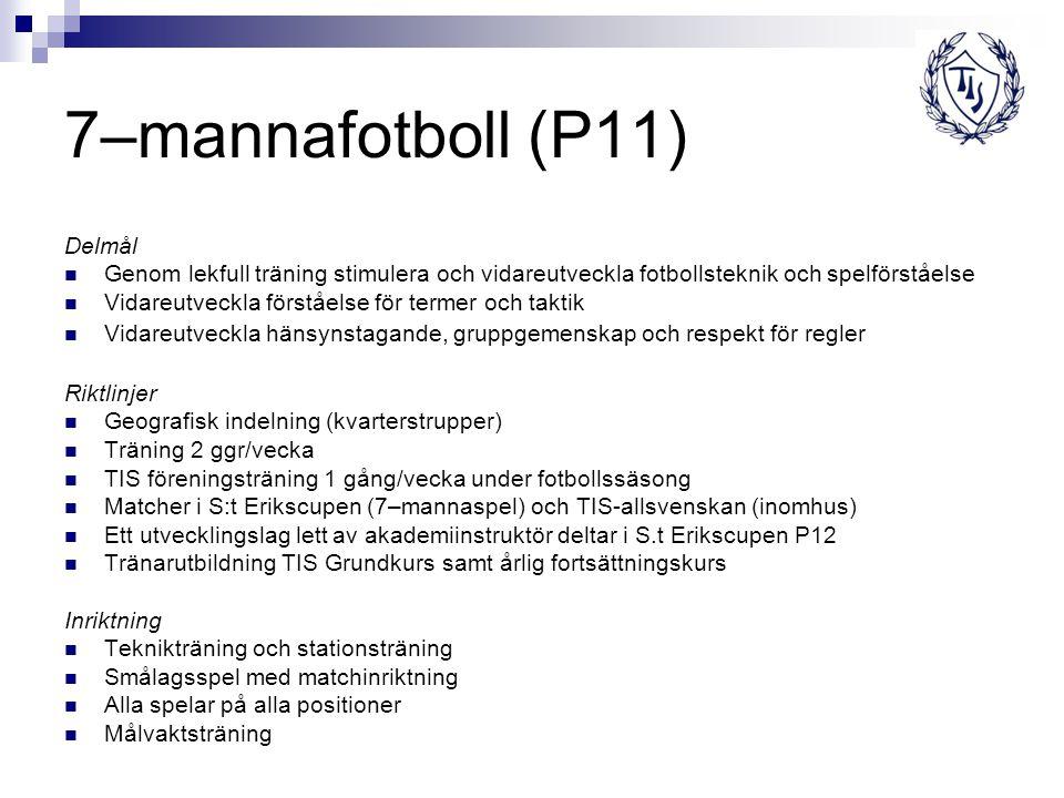 7–mannafotboll (P11) Delmål