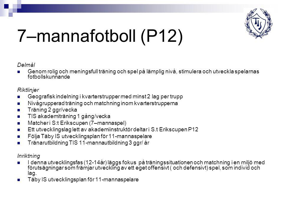 7–mannafotboll (P12) Delmål