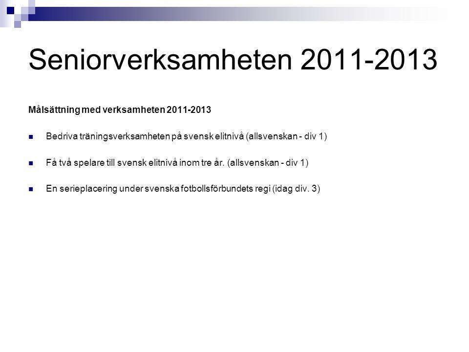 Seniorverksamheten 2011-2013 Målsättning med verksamheten 2011-2013