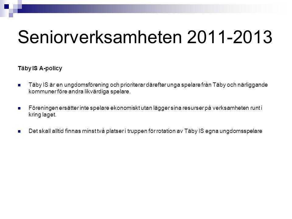 Seniorverksamheten 2011-2013 Täby IS A-policy