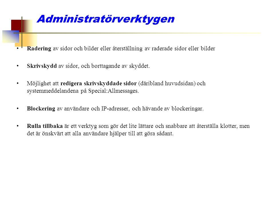 Administratörverktygen
