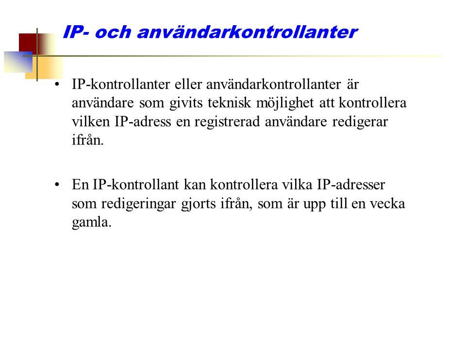IP- och användarkontrollanter