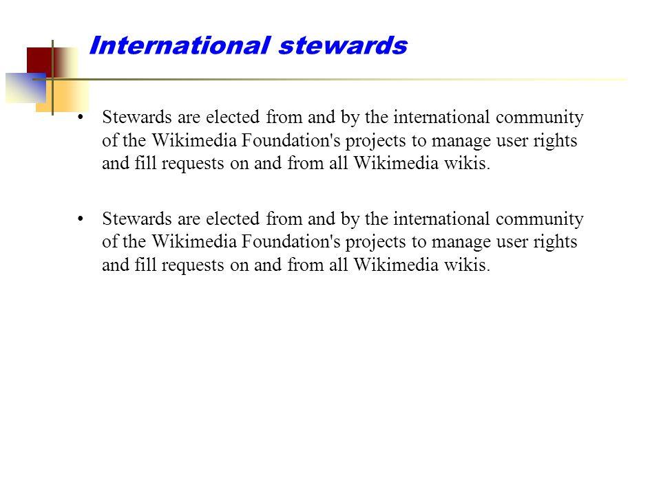 International stewards