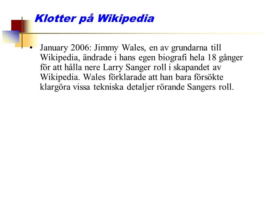 Klotter på Wikipedia