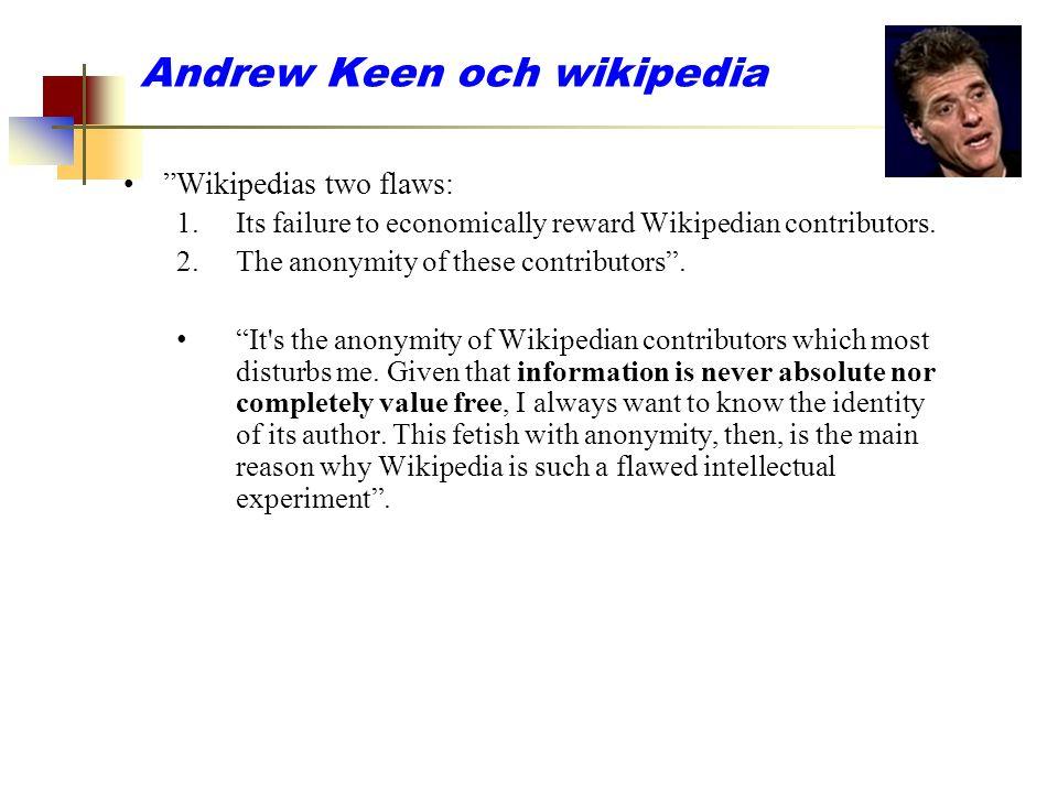 Andrew Keen och wikipedia