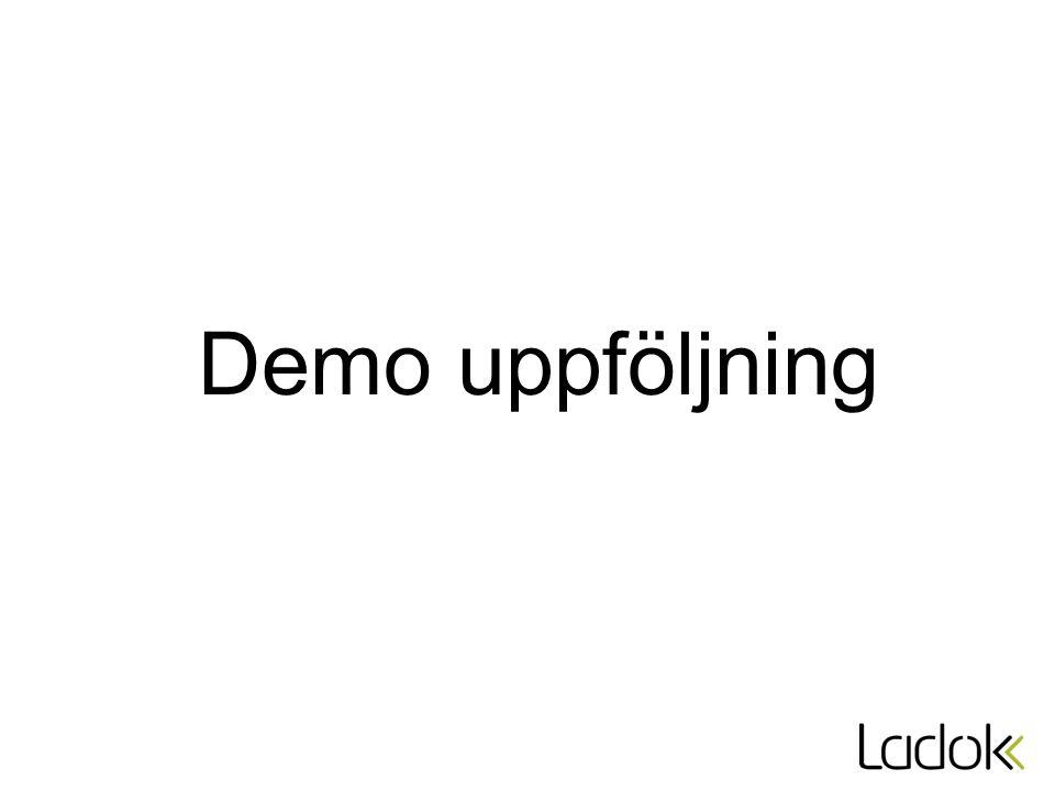 Demo uppföljning