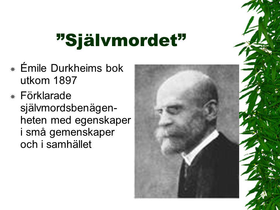 Självmordet Émile Durkheims bok utkom 1897