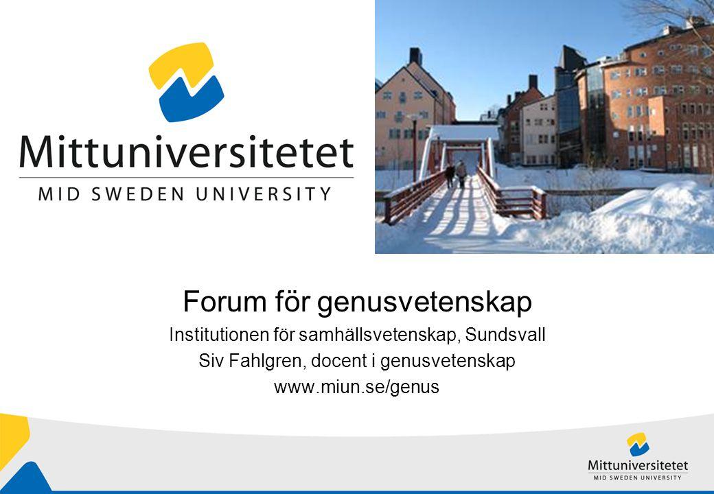 Forum för genusvetenskap