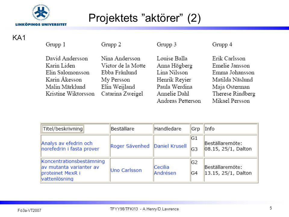 Projektets aktörer (2)
