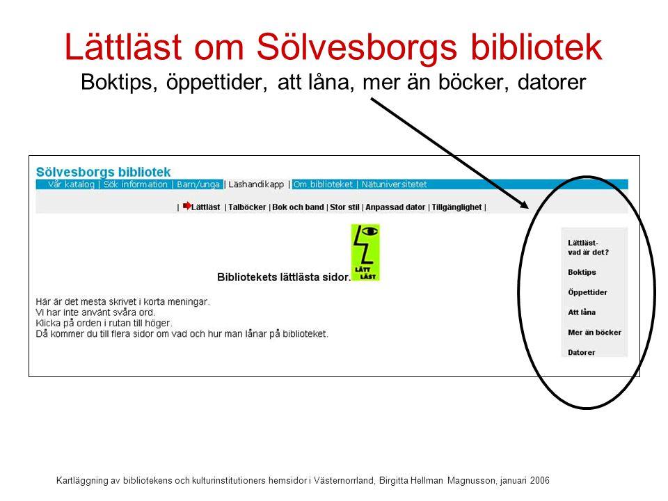 Lättläst om Sölvesborgs bibliotek Boktips, öppettider, att låna, mer än böcker, datorer