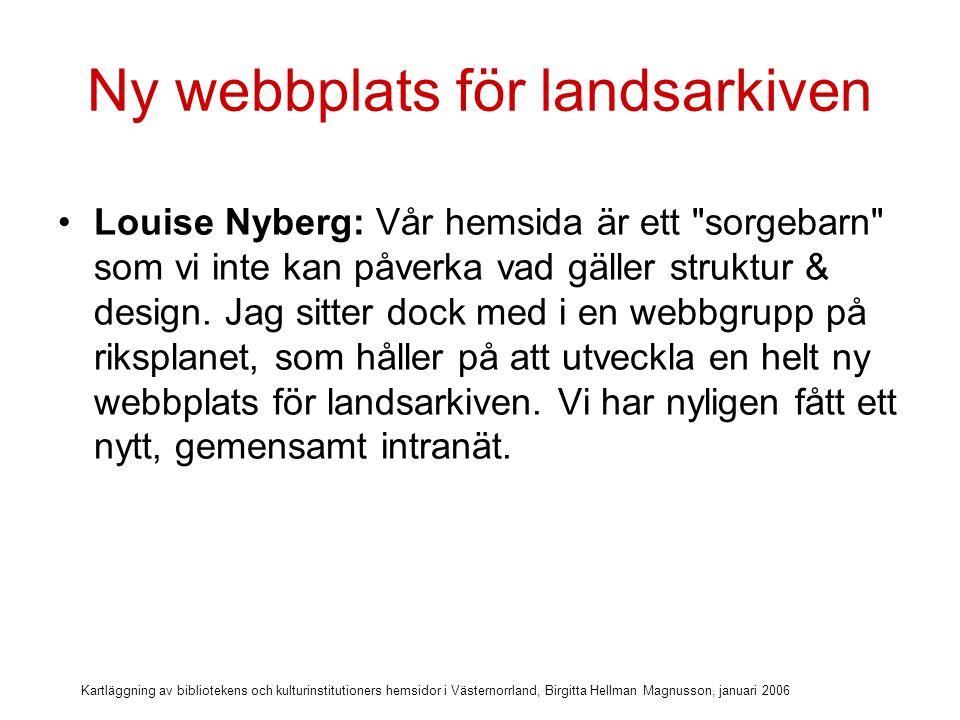 Ny webbplats för landsarkiven