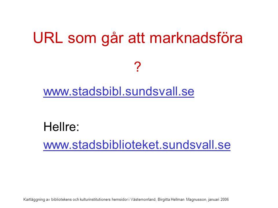 URL som går att marknadsföra