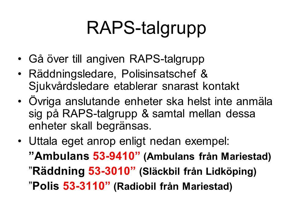 RAPS-talgrupp Gå över till angiven RAPS-talgrupp