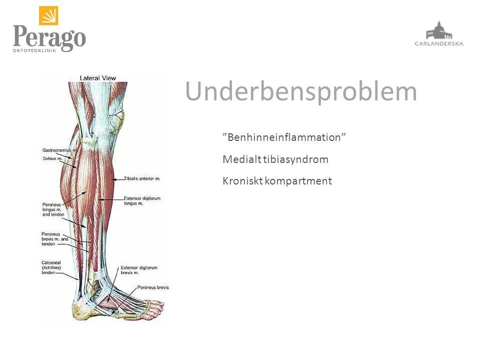 Underbensproblem Benhinneinflammation Medialt tibiasyndrom