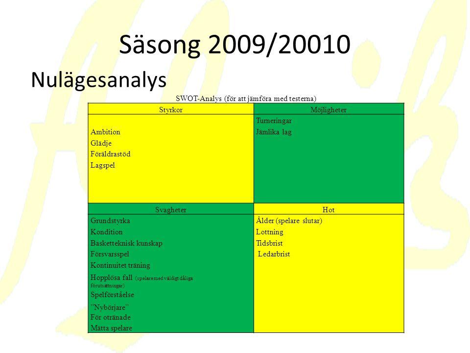 SWOT-Analys (för att jämföra med testerna)