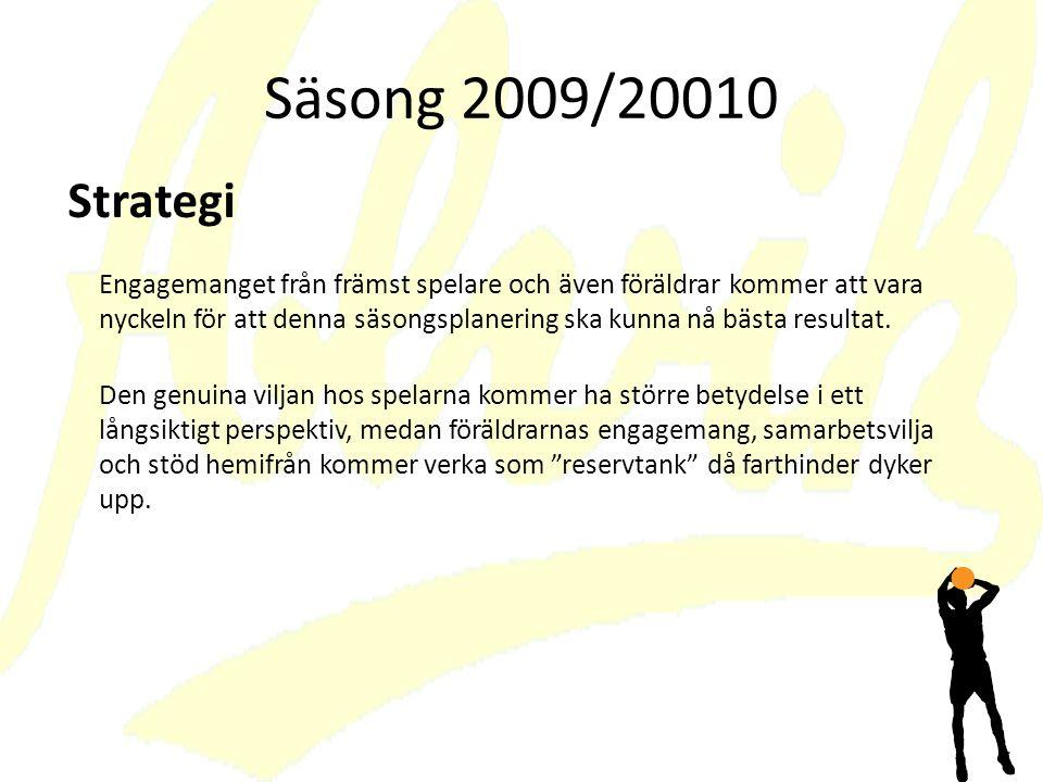 Säsong 2009/20010 Strategi.