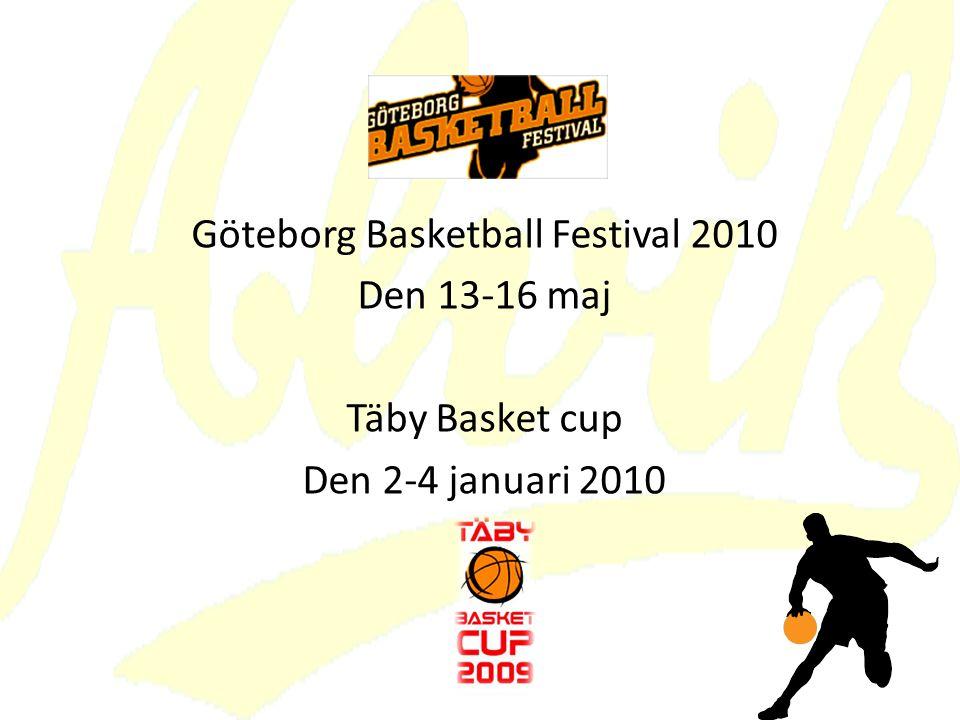 Göteborg Basketball Festival 2010 Den 13-16 maj Täby Basket cup Den 2-4 januari 2010