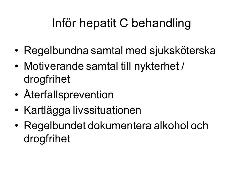 Inför hepatit C behandling