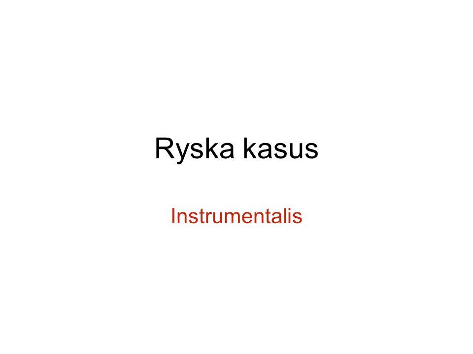 Ryska kasus Instrumentalis