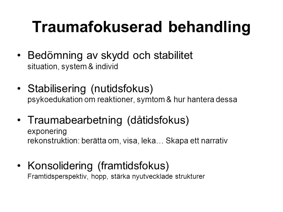 Traumafokuserad behandling