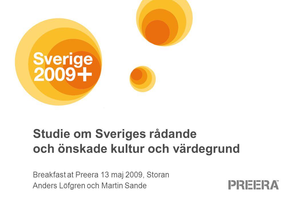 Studie om Sveriges rådande och önskade kultur och värdegrund