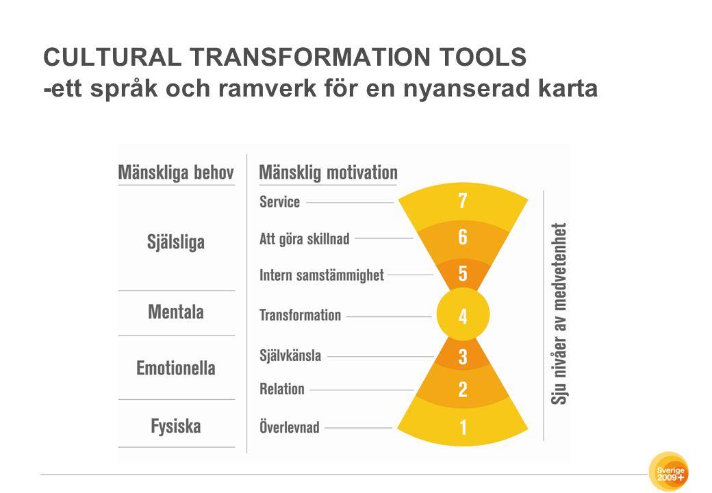 CULTURAL TRANSFORMATION TOOLS -ett språk och ramverk för en nyanserad karta