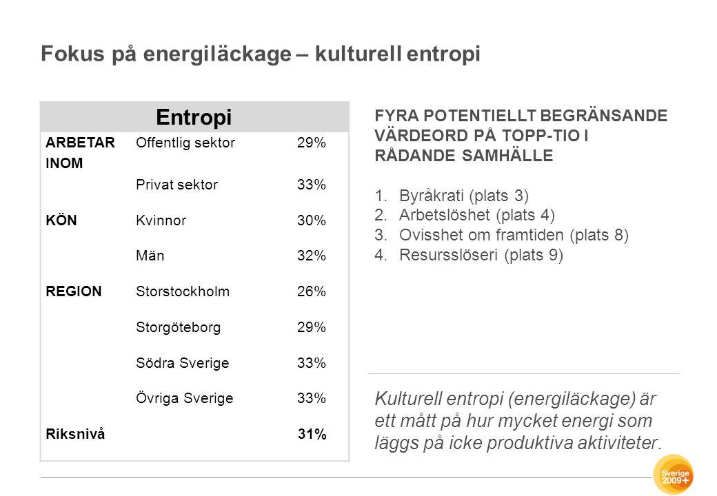 Fokus på energiläckage – kulturell entropi