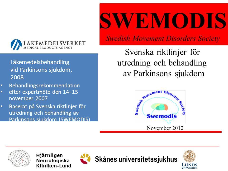 SWEMODIS Svenska riktlinjer för utredning och behandling