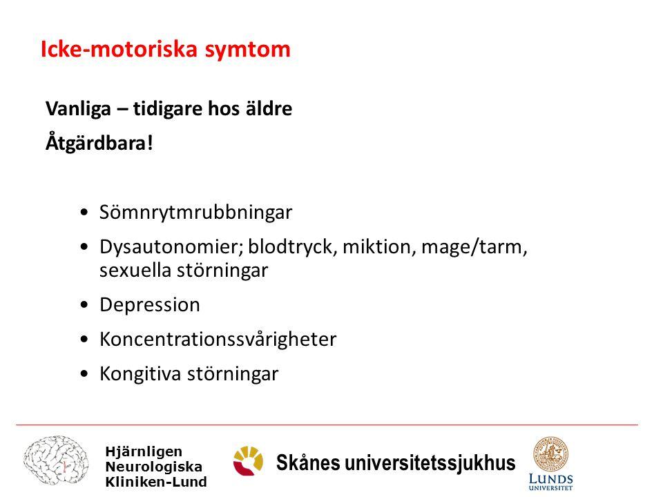 Icke-motoriska symtom
