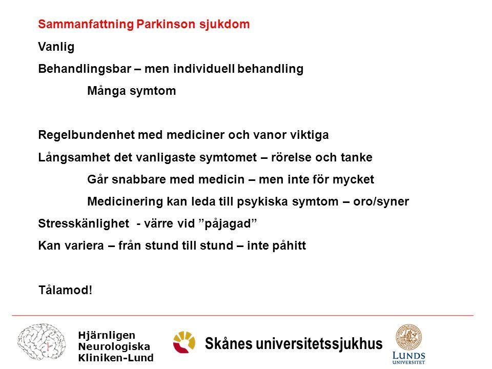 Sammanfattning Parkinson sjukdom