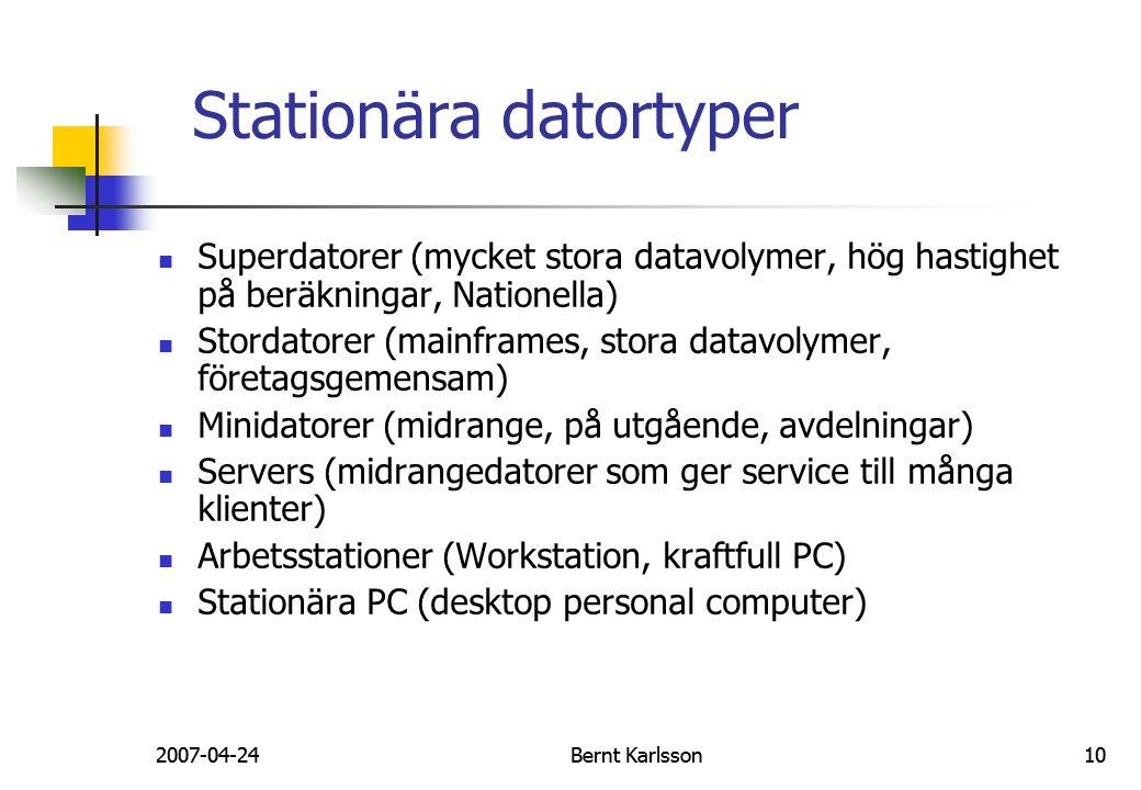Stationära datortyper