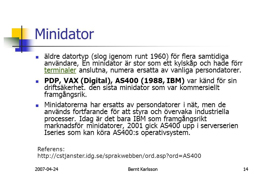 Minidator
