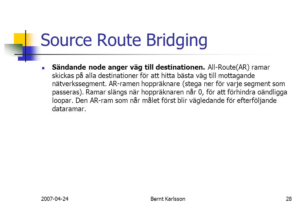 Source Route Bridging