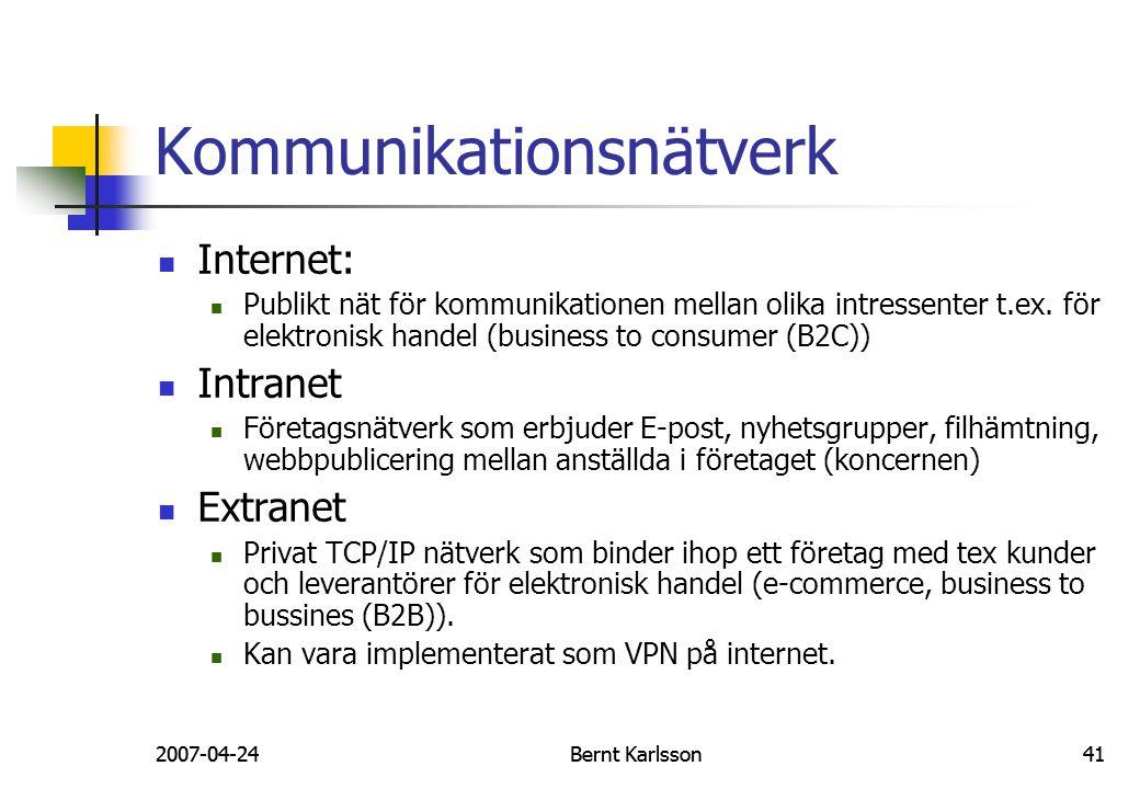 Kommunikationsnätverk
