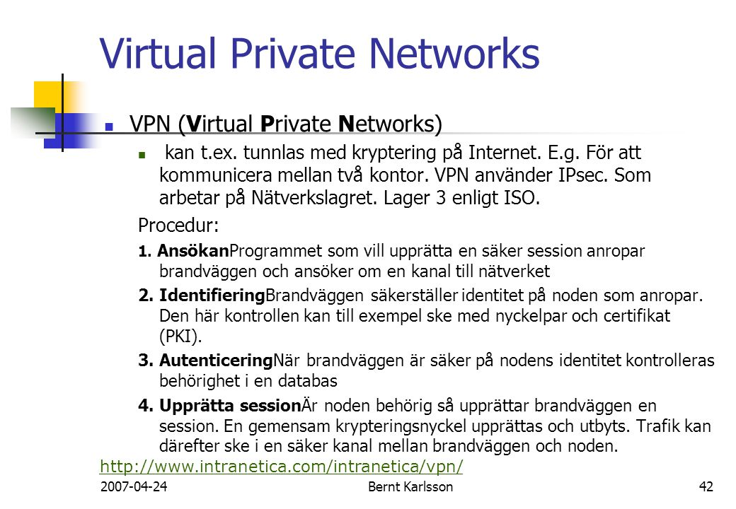 Virtual Private Networks