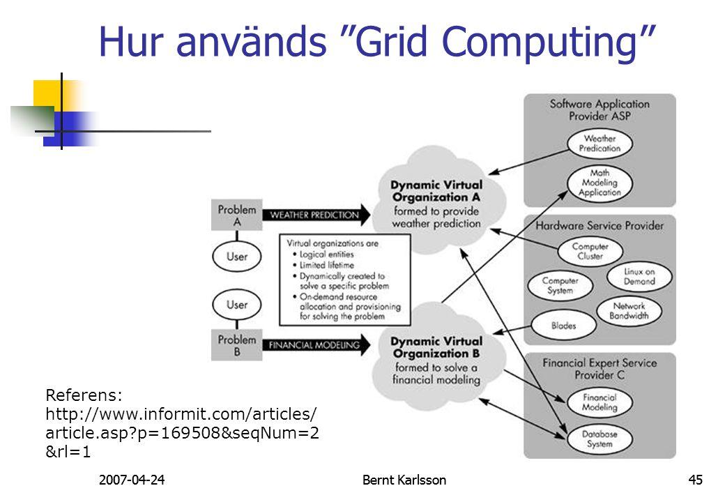 Hur används Grid Computing