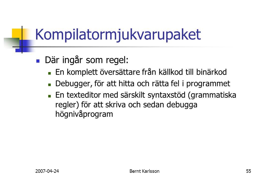 Kompilatormjukvarupaket