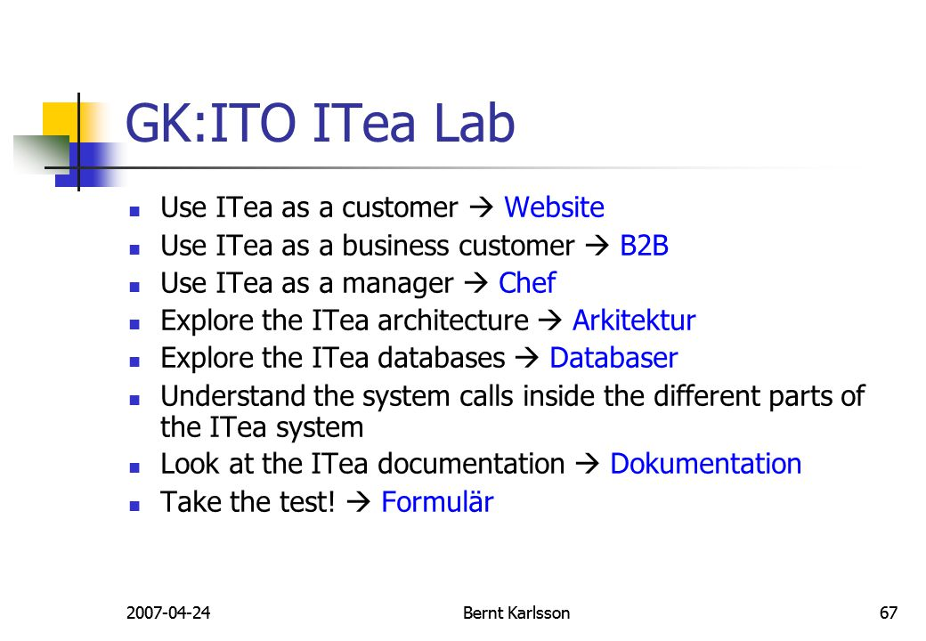 GK:ITO ITea Lab Use ITea as a customer  Website
