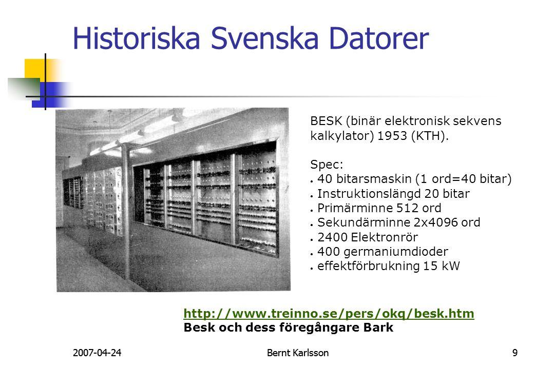 Historiska Svenska Datorer