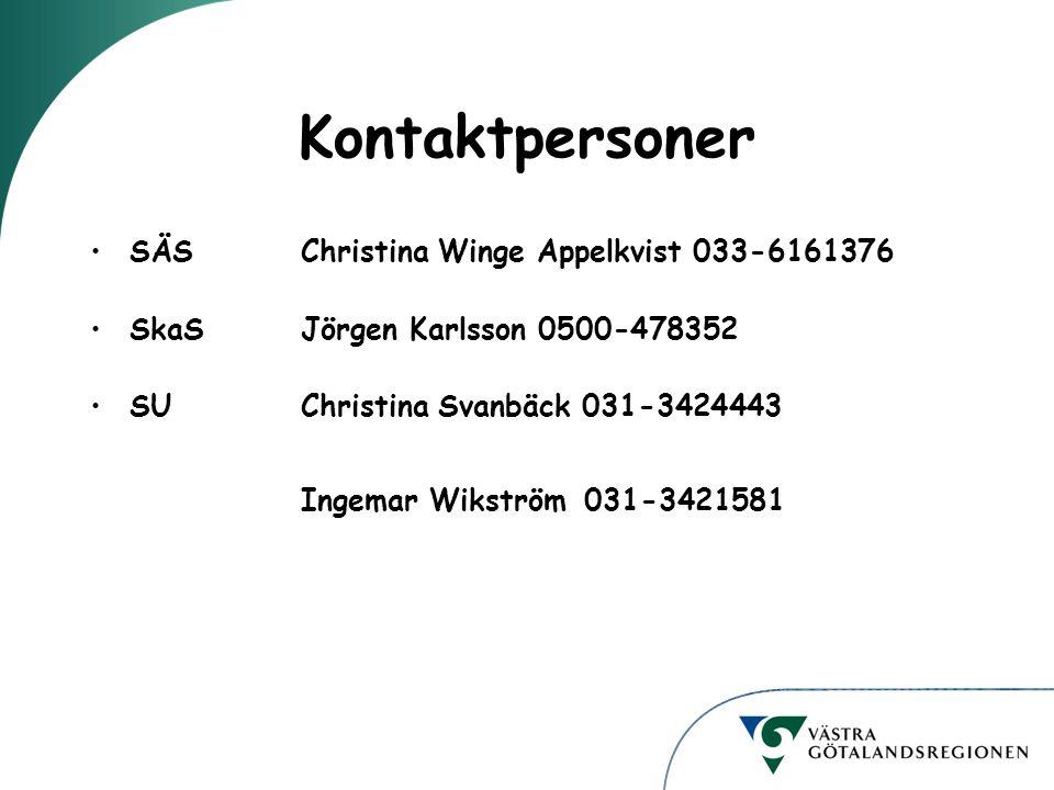 Kontaktpersoner SÄS Christina Winge Appelkvist 033-6161376