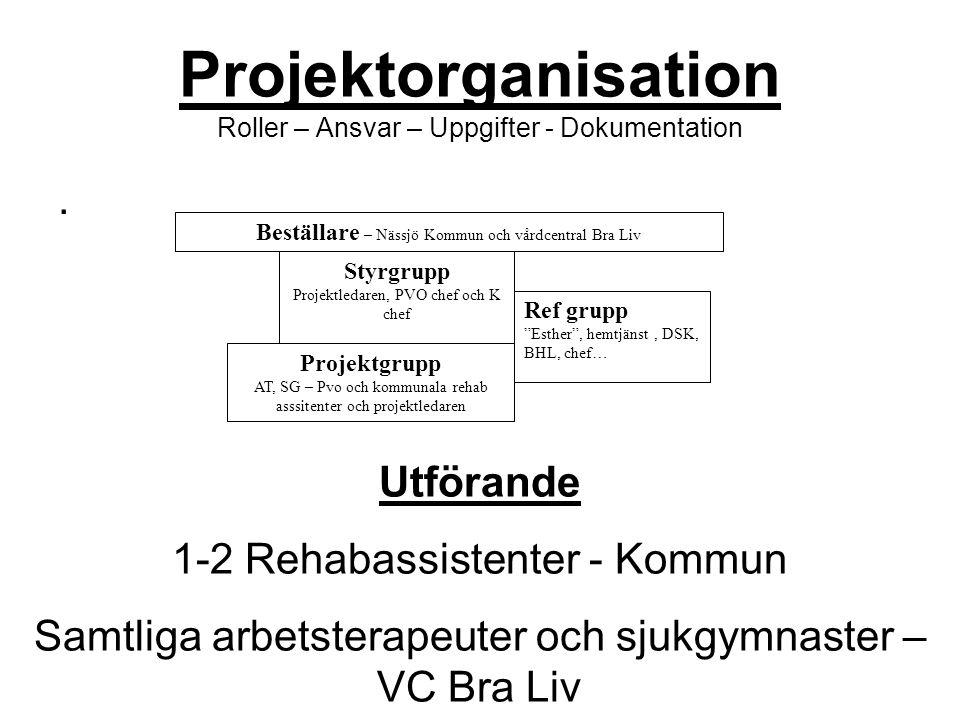 Projektorganisation Roller – Ansvar – Uppgifter - Dokumentation